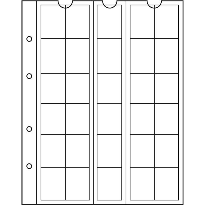 Лист NUMIS LEUCHTTURM для 30 монет діаметром до 25 мм