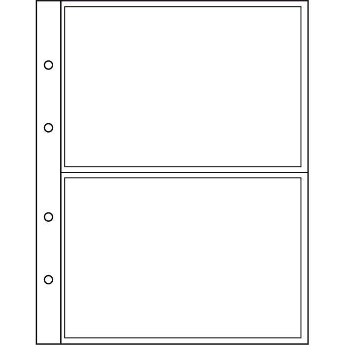Лист NUMIS LEUCHTTURM для банкнот розміром до 165 х 107 мм