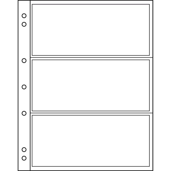 Лист NUMIS LEUCHTTURM для банкнот розміром до 165 х 70 мм