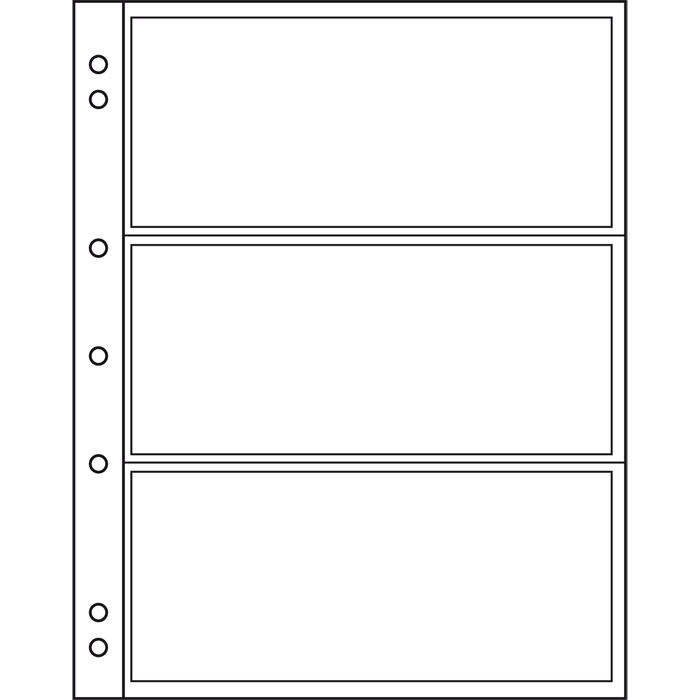 Лист NUMIS LEUCHTTURM для банкнот размером до 165 х 70 мм