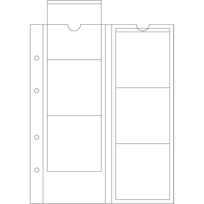 Лист OPTIMA LEUCHTTURM для 6 монет діаметром до 65 мм