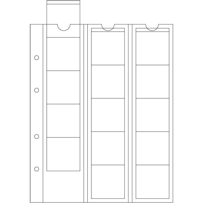 Лист OPTIMA LEUCHTTURM для 15 монет діаметром до 42 мм