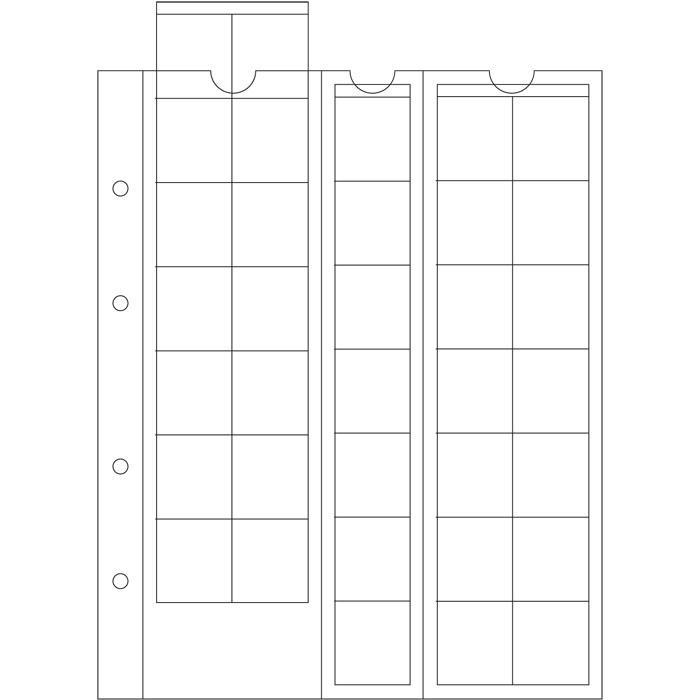 Лист OPTIMA LEUCHTTURM для 35 монет діаметром до 27 мм