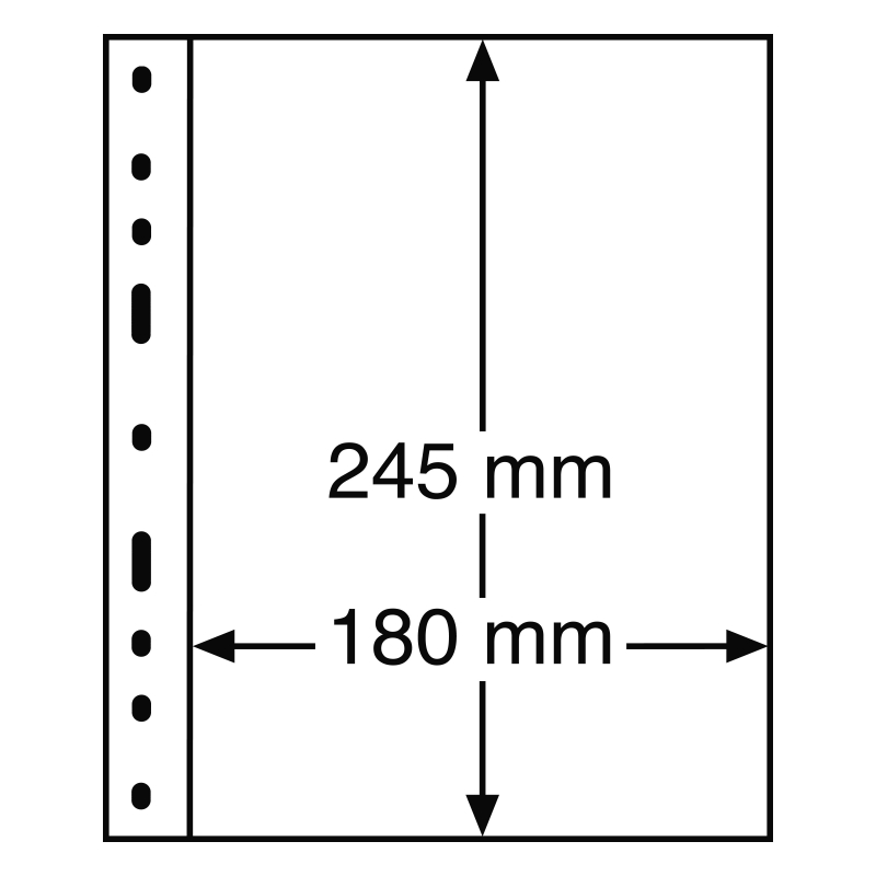 Лист OPTIMA LEUCHTTURM для банкнот розміром до 180 х 245 мм