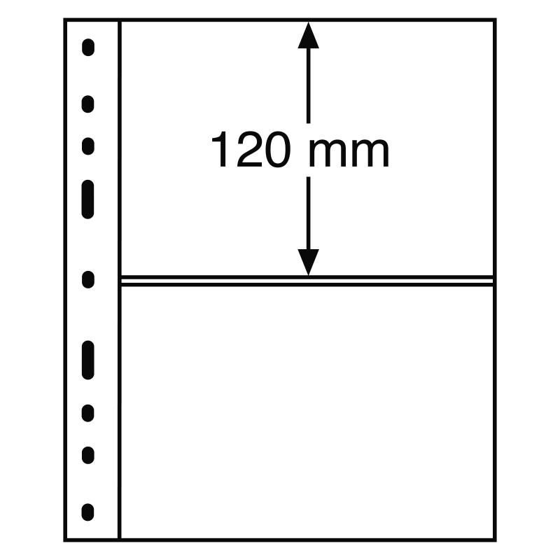 Лист OPTIMA LEUCHTTURM для 2 банкнот розміром до 180 х 120 мм