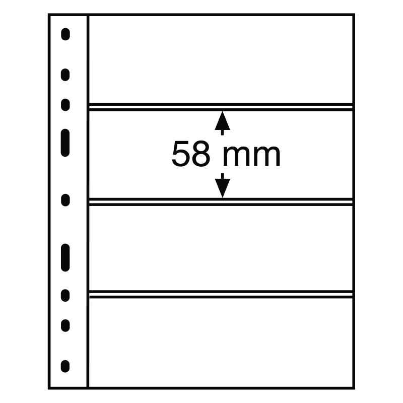 Лист OPTIMA LEUCHTTURM для 4 банкнот розміром до 180 х 58 мм