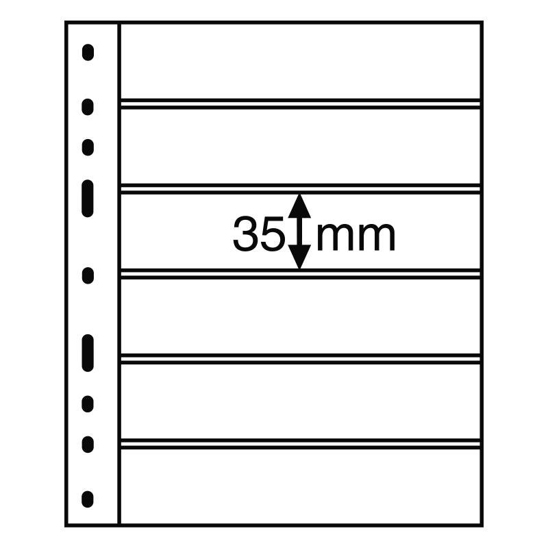 Черный лист OPTIMA LEUCHTTURM на 6 делений размером до 180 х 35 мм 2