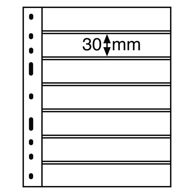 Черный лист OPTIMA LEUCHTTURM на 7 делений размером до 180 х 30 мм 2