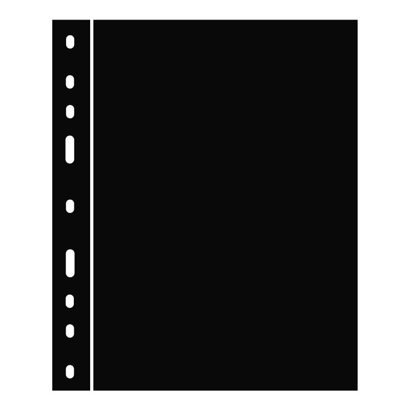 Лист OPTIMA LEUCHTTURM чорного кольору для оптичного розподілу аркушів