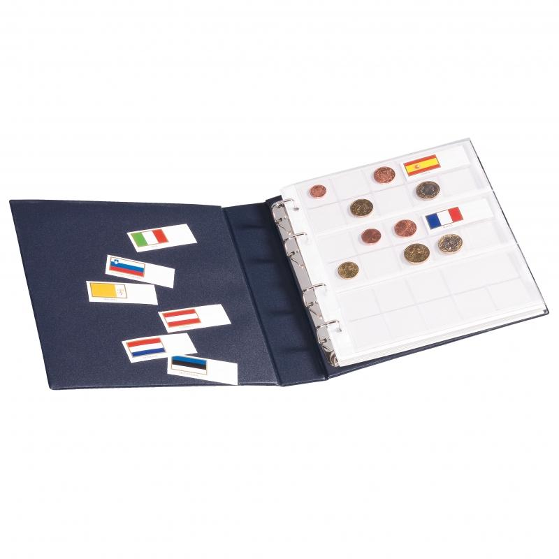 Альбом NUMIS LEUCHTTURM с футляром для полного набора 21 курсовой монеты евро