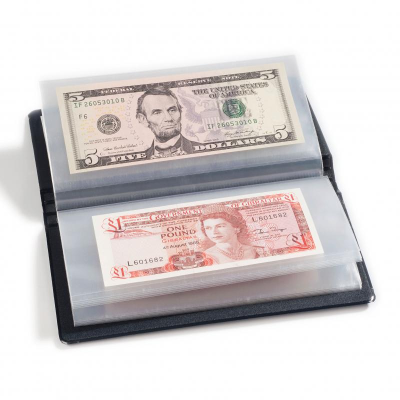 Карманный альбом для 20 банкнот 182 х 92 мм