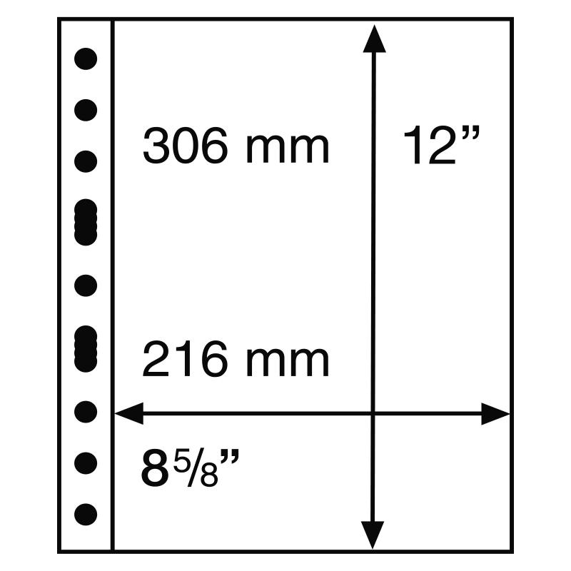 Лист GRANDE LEUCHTTURM на 1 ячейку для материалов большого формата