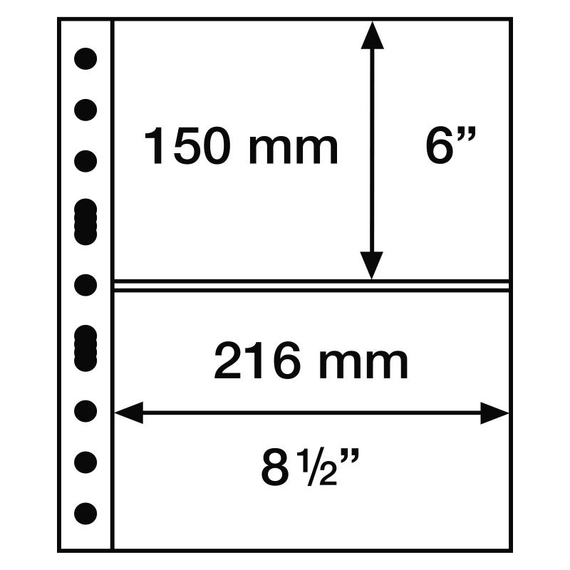 Лист GRANDE LEUCHTTURM на 2 ячейки для банкнот