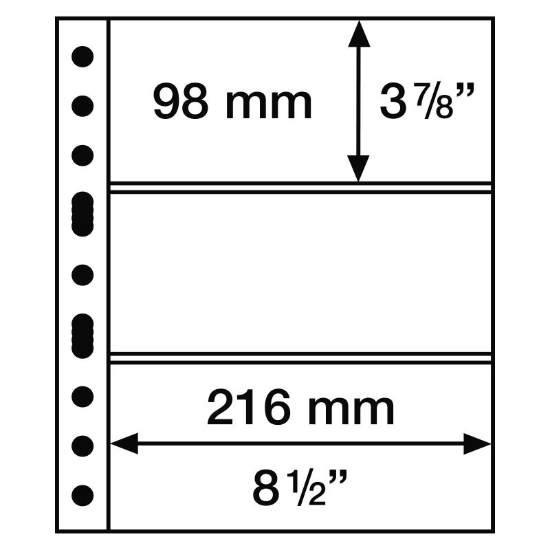 Лист GRANDE LEUCHTTURM на 3 ячейки для банкнот