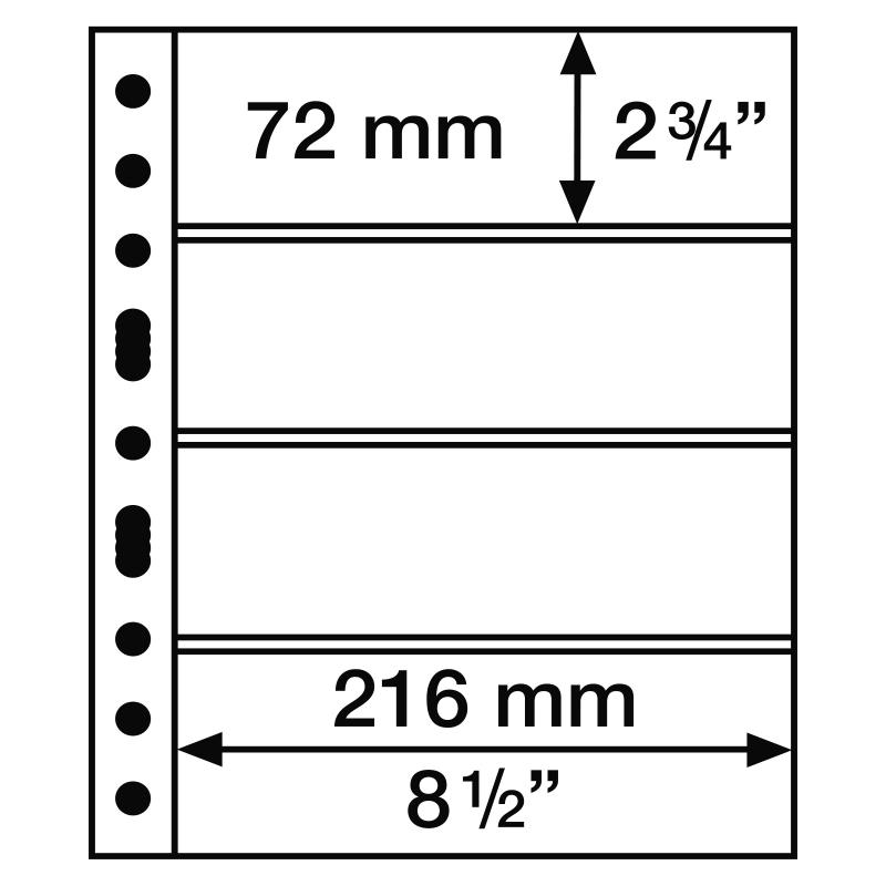 Лист GRANDE LEUCHTTURM на 4 ячейки для банкнот