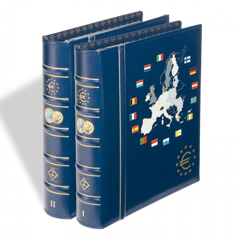 Альбом VISTA для монет євро I + II том з футляром