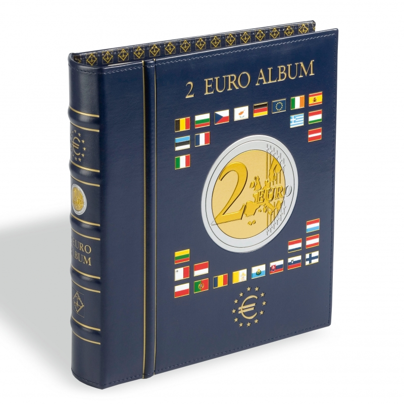 Альбом VISTA LEUCHTTURM для монет 2 євро з футляром