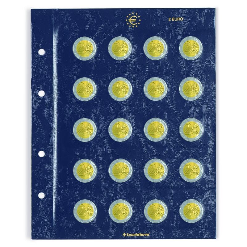 Лист VISTA для монет номіналом 2 євро
