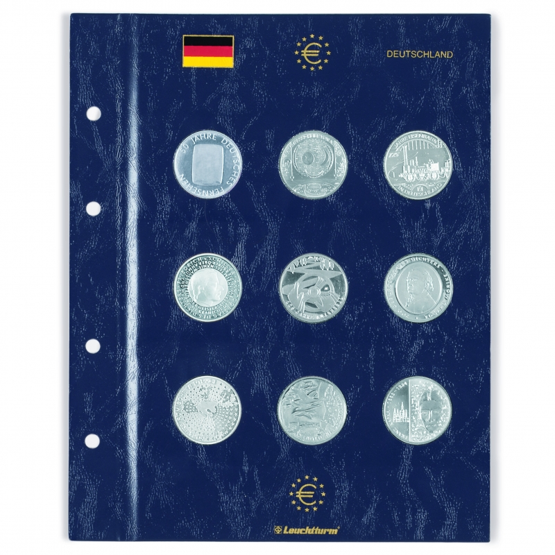 Лист VISTA для монет номіналом 10, 20, 25 євро