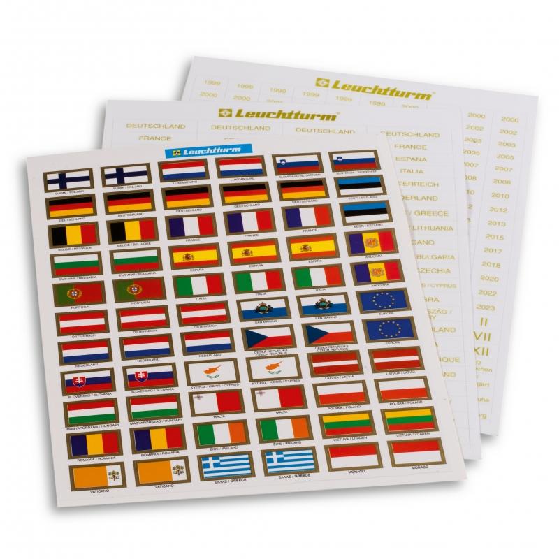 Набір прапорів-стікерів країн Євросоюзу