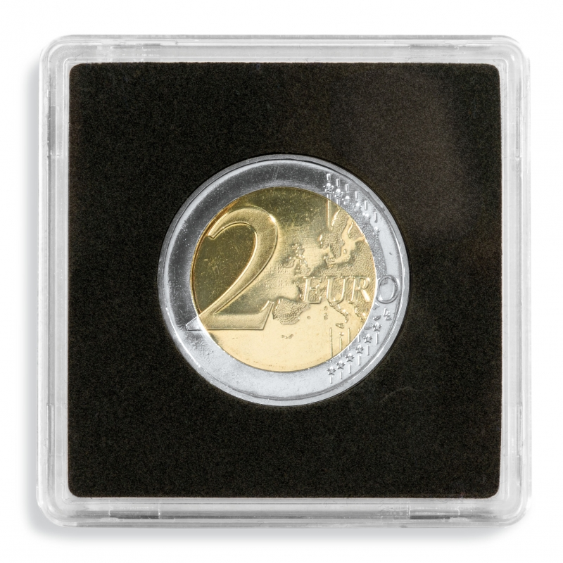 Квадратна капсула для монет діаметр 27 мм.