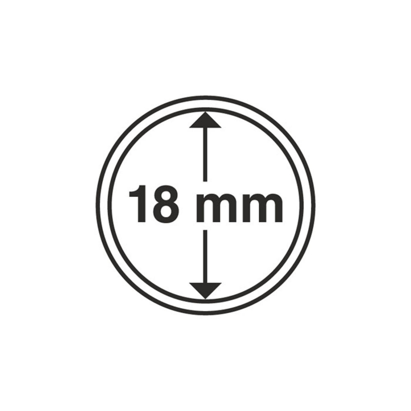Капсула Leuchtturm для монет діаметр 18 мм
