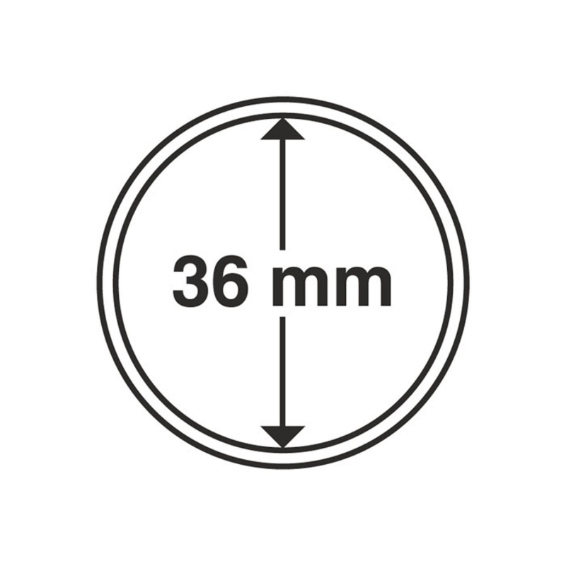 Капсула Leuchtturm для монет діаметр 36 мм