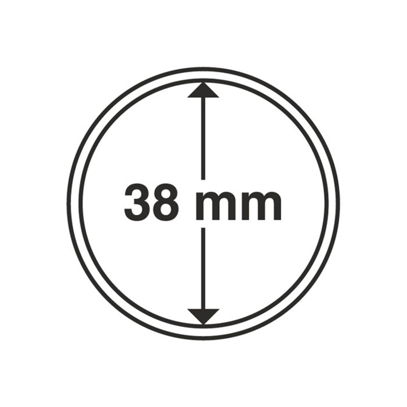Капсула Leuchtturm для монет діаметр 38 мм
