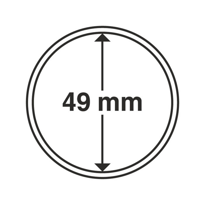 Капсула Leuchtturm для монет діаметр 49 мм