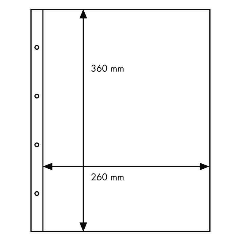 Лист FOLIO для материалов большого формата - 1 ячейка
