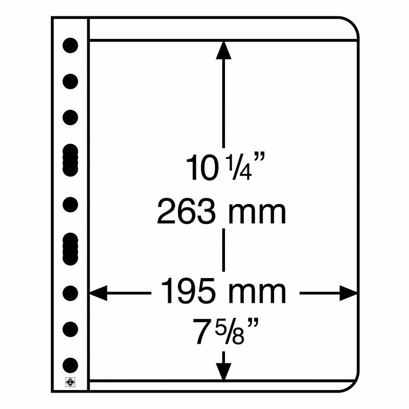 Лист VARIO LEUCHTTURM размером до 195 х 263 мм