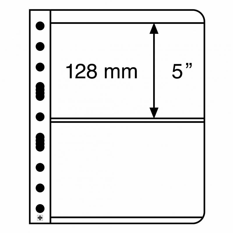 Лист VARIO LEUCHTTURM для 2 банкнот размером до 195 х 128 мм