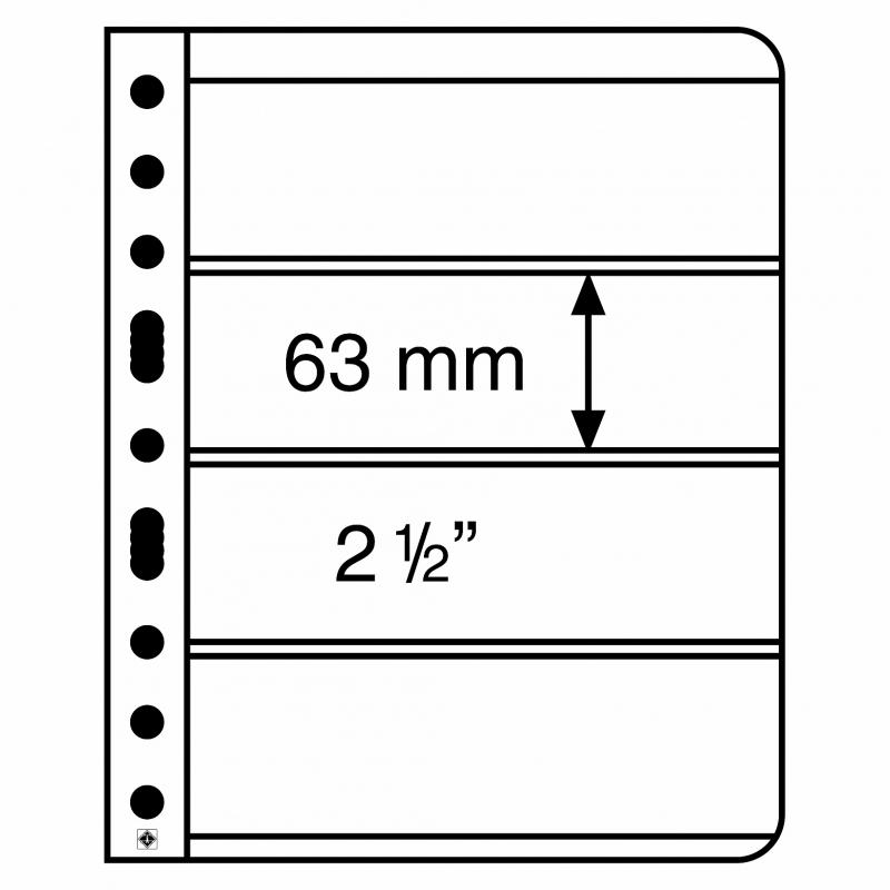 Лист VARIO LEUCHTTURM для 4 банкнот размером до 195 х 63 мм