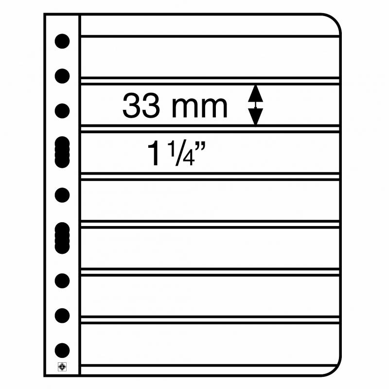 Лист VARIO LEUCHTTURM на 7 делений размером до 195 х 33 мм