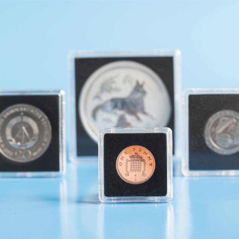 Квадратна капсула Mini для монет 21 мм 5