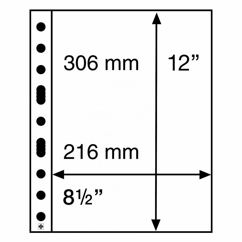 Мягкий лист GRANDE EASY LEUCHTTURM на 1 деление для материалов большого формата