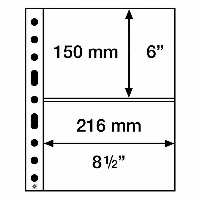 Мягкий лист GRANDE EASY LEUCHTTURM на 2 деления