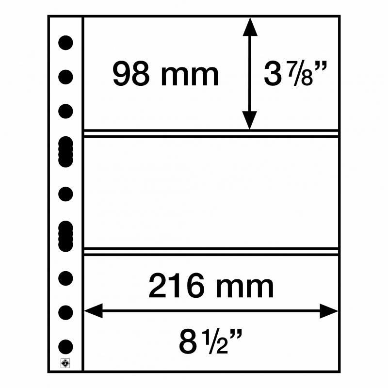 Мягкий лист GRANDE EASY LEUCHTTURM на 3 деления