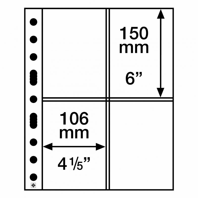 Мягкий лист GRANDE EASY LEUCHTTURM на 4 деления для открыток