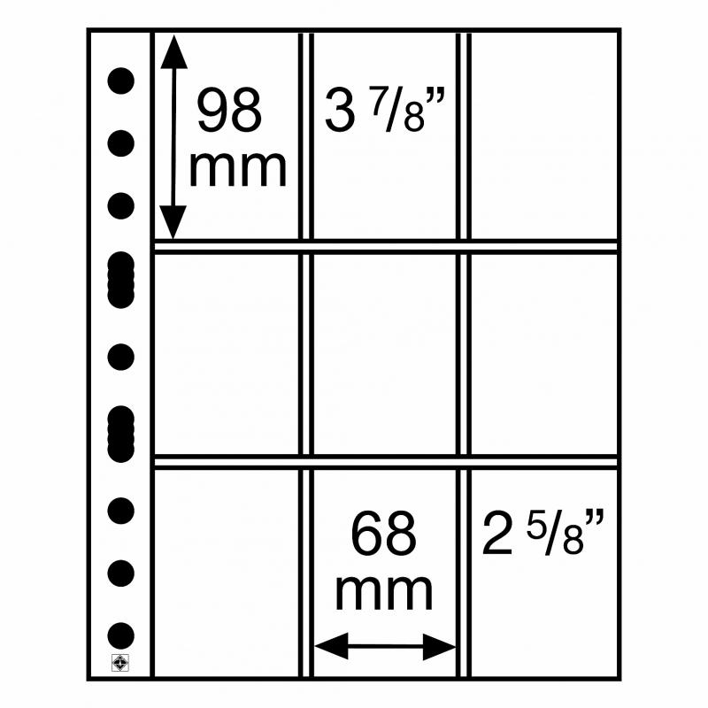 Мягкий лист GRANDE EASY LEUCHTTURM на 9 делений
