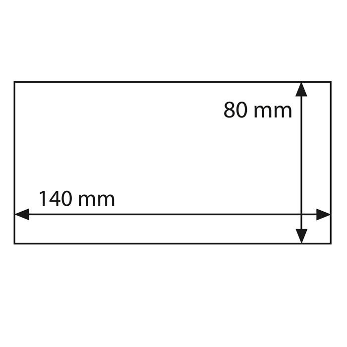 Захисні листи-обкладинки для банкнот BASIC 140