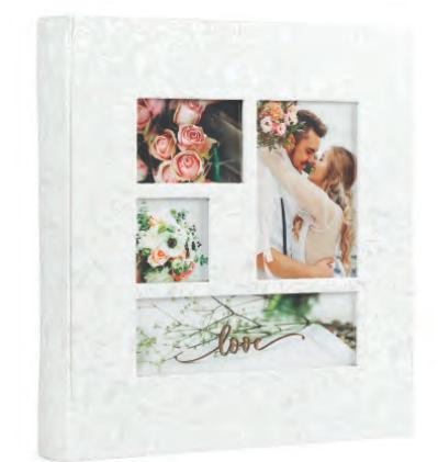 Весільний фотоальбом HOFMANN під куточки 30 х 33 см модель 1707