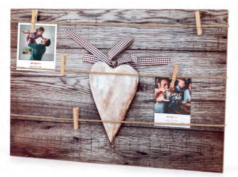 Дерев'яна настінна рамка для декількох фотографій модель 364